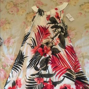 White house black market tropical sundress, floral